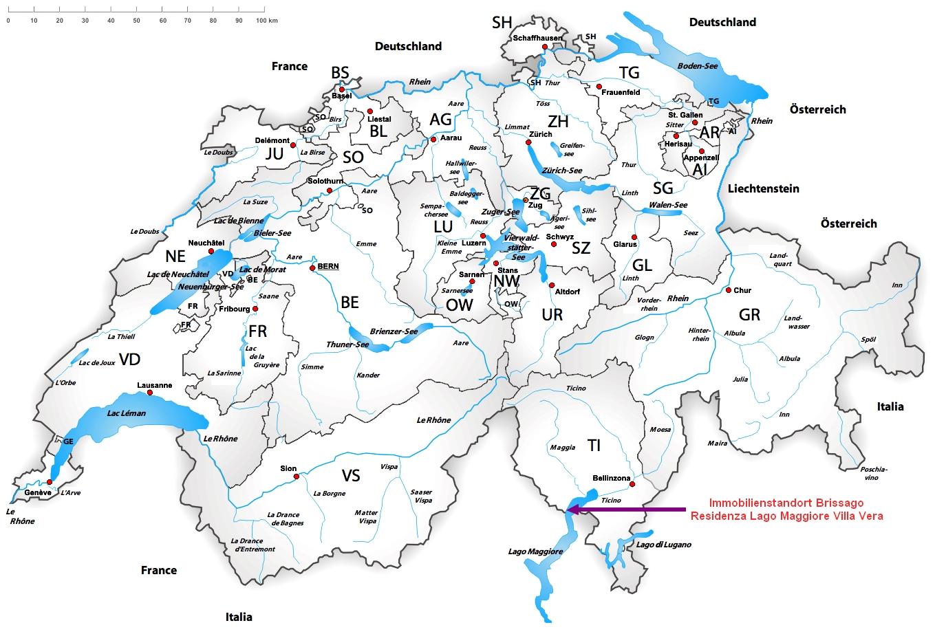 Karte Lago Maggiore Und Umgebung.Penthouse Kaufen Schweiz Brissago Tessin Sudschweiz